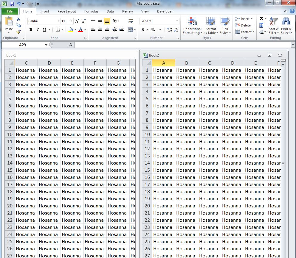 hosanna-in-excel-sheets